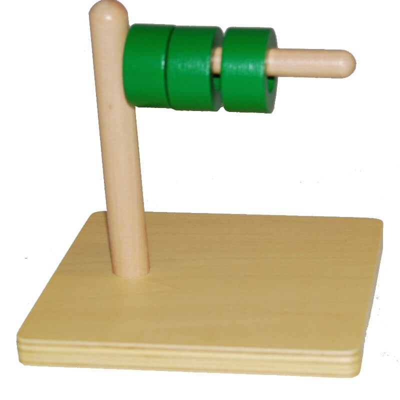Disques sur tige horizontale Montessori