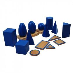 solides géometriques en hêtre PREMIUM  Montessori