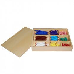Boite de barrettes de perles de 1 à 9 (x20) Montessori