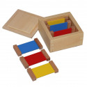 1ère boite de couleurs plaquettes bois Montessori
