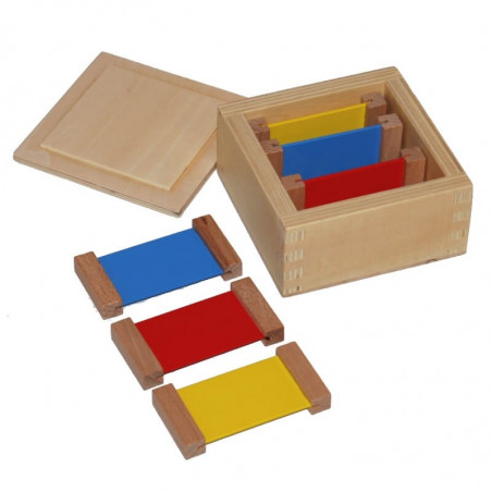 1ère boite de couleurs plaquettes bois