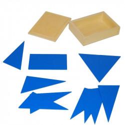 Boite des triangles bleus Montessori