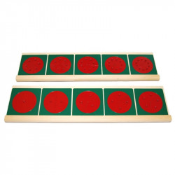 Cercles en métal pour les fractions  et suppport en bois Montessori Montessori