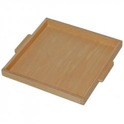 Plateau pour 9 cubes de 1000 en bois Montessori