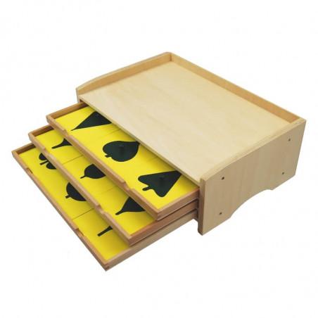 Cabinet de botanique 3 tiroirs Montessori