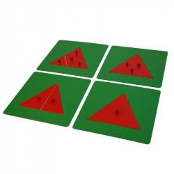 Triangles métalliques pour les fractions Montessori