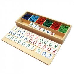 Exercices des fractions décimales Montessori