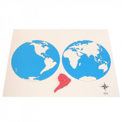 Carte des continents vierge Montessori