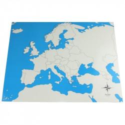 Carte de l'Europe vierge