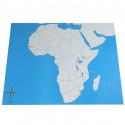 Carte de l'Afrique vierge
