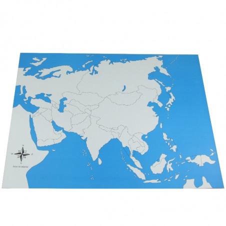 Carte de l'Asie vierge