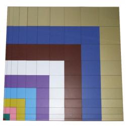 Table de Pythagore sensorielle en bois