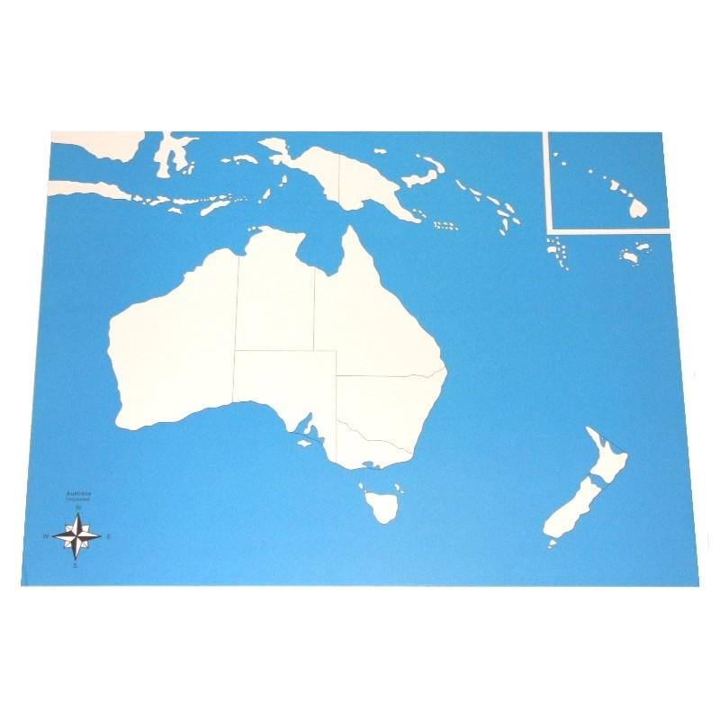 Carte de l'Océanie vierge