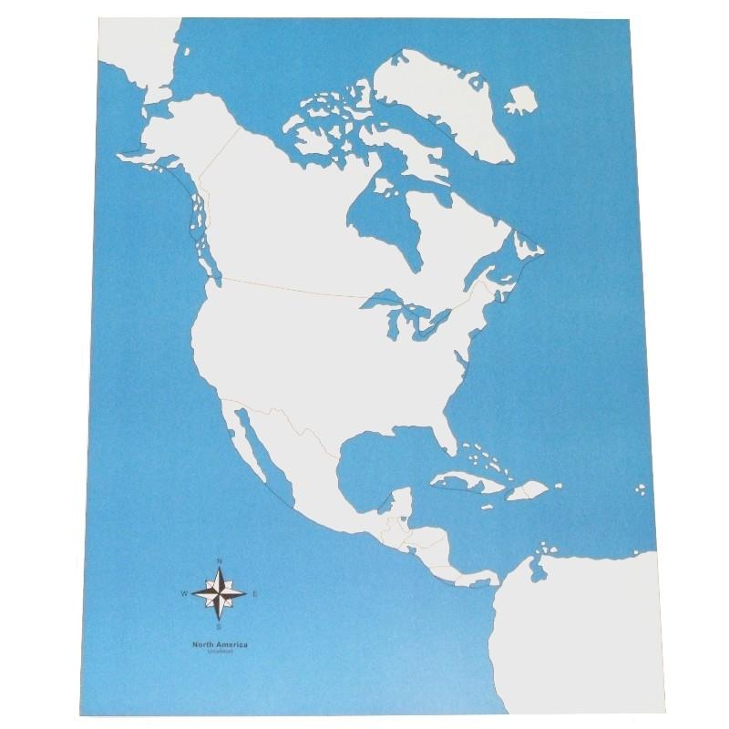 Carte de l'Amérique du Nord vierge