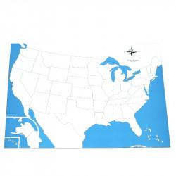 Carte des Etats-Unis vierge
