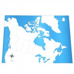 Carte du Canada vierge