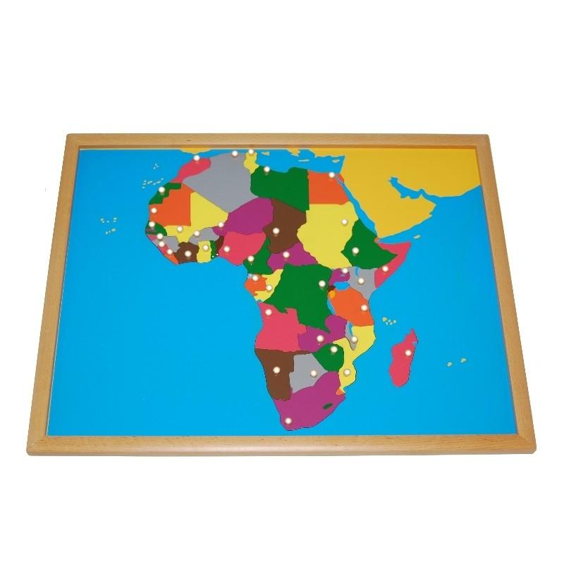 Puzzle de l'Afrique PREMIUM Montessori