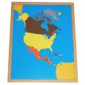 Puzzle de l'Amérique du Nord PREMIUM Montessori