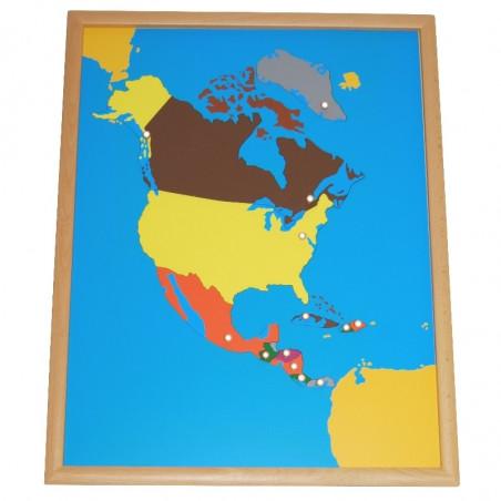 Puzzle de l'Amérique du Nord PREMIUM