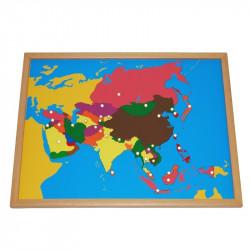 Puzzle de l'Asie PREMIUM Montessori