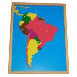 Puzzle de l'Amérique du Sud PREMIUM Montessori