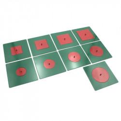 Cercles et carrés métalliques