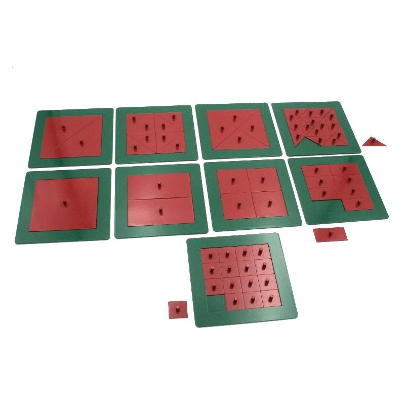 Carrés métalliques pour les fractions