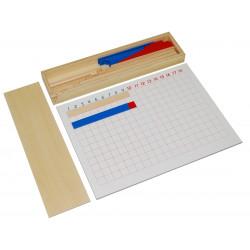 Tableau à bandes des soustractions Montessori