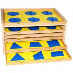 Cabinet de géométrie 6 tiroirs