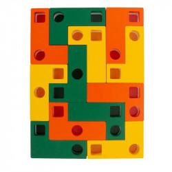 Puzzle en bois formes géométriques