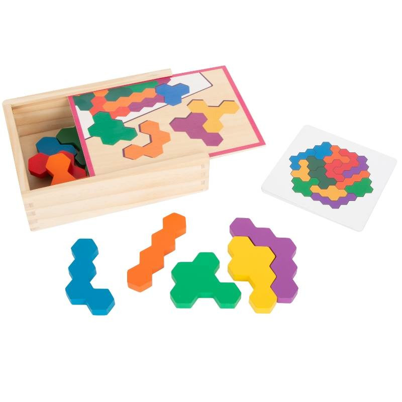 Puzzle en bois Hexagone