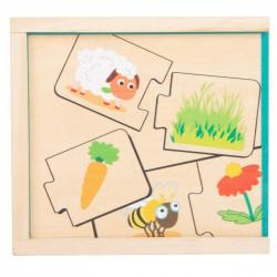 Puzzle en bois nourrir les animaux