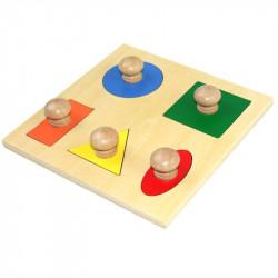 Puzzle 5 formes géométriques simples
