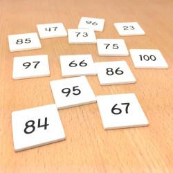 Nombres pour le tableau de 100