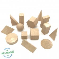 14 solides géométriques en Re-Wood®