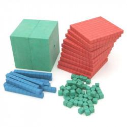Ensemble de calcul décimal aux couleurs Montessori en RE-WOOD®