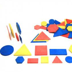 Blocs logiques, 60 pièces en bois recyclé RE-Wood®