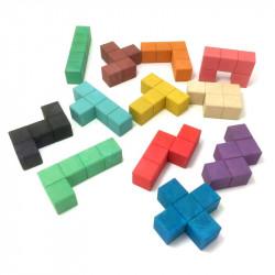 Pentominos 3D en RE-Wood®