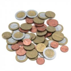 Assortiment de 50 pièces en euros