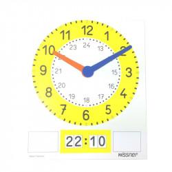 Tableau horloge magnétique