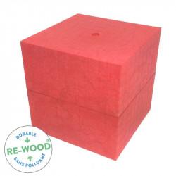 Matériel Lubienska - cube de 1000 rouge en RE-WOOD®