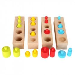 Minis encastrements de cylindres multicolores