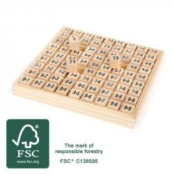 Tables de multiplications en bois