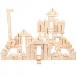 Blocs de construction en bois naturel, grand format