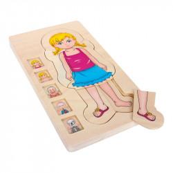 Puzzle à étages Anatomie Fille