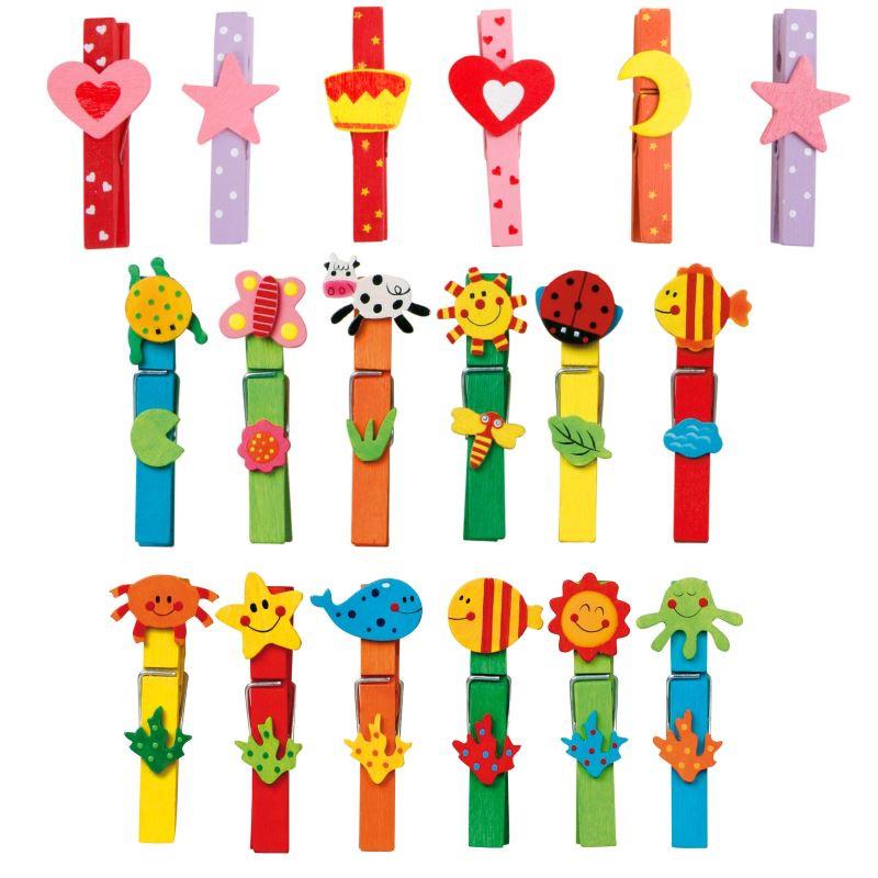 Pinces à linge «Multicolores»