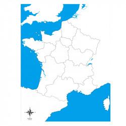 Carte de la France vierge