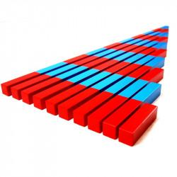 Barres rouges et bleues en...