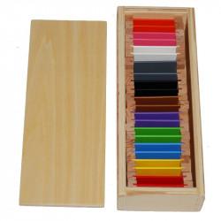 2ème boite de couleurs plaquettes bois