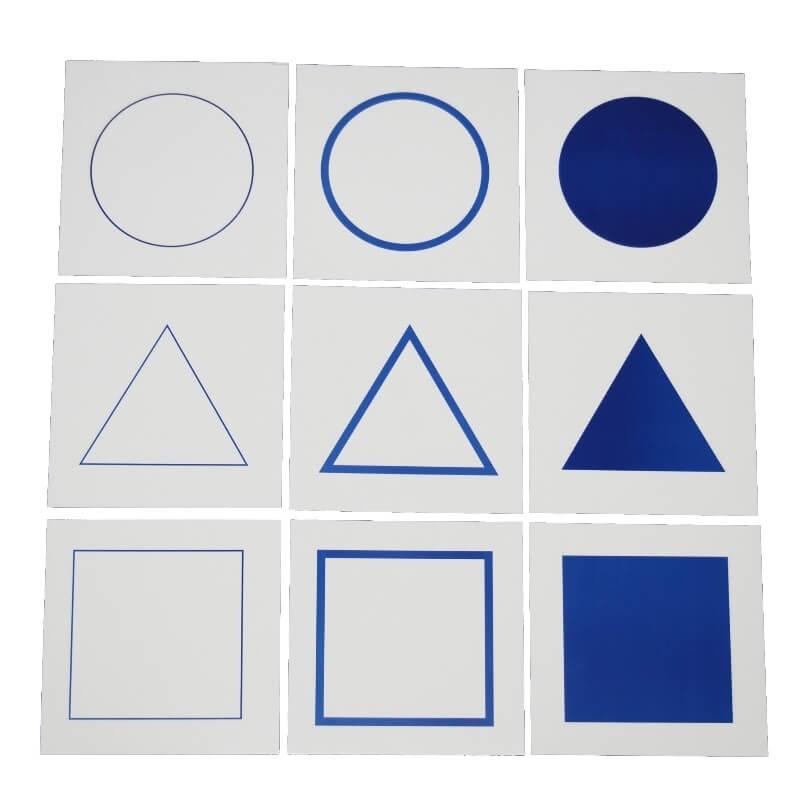 cartes pour le plateau de présentation du cabinet de géométrie - Montessori